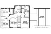 Colonial Style House Plan - 4 Beds 2.5 Baths 2608 Sq/Ft Plan #928-289 Floor Plan - Upper Floor Plan