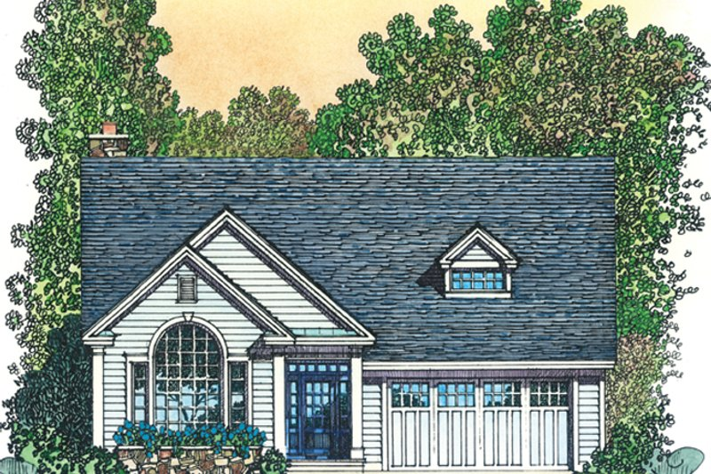 Colonial Exterior - Front Elevation Plan #1016-105