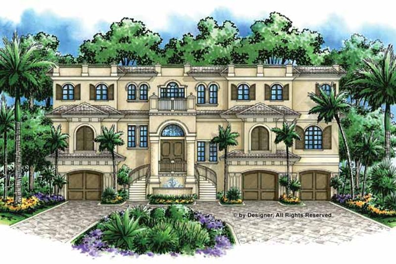 Mediterranean Exterior - Front Elevation Plan #1017-47