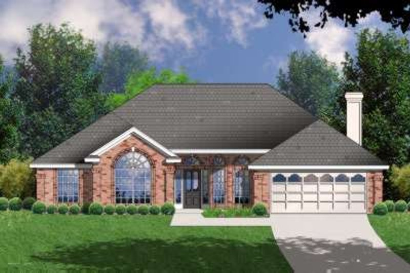 Traditional Exterior - Front Elevation Plan #40-188