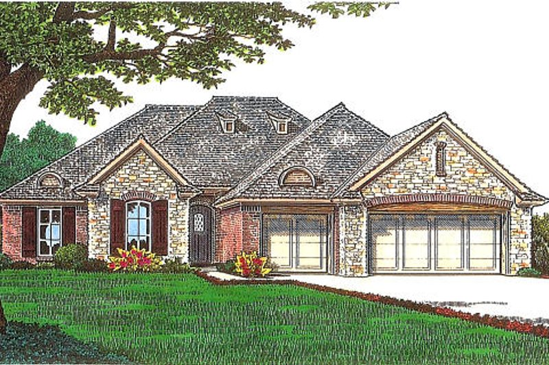 European Exterior - Front Elevation Plan #310-969