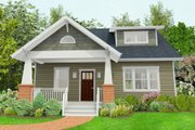 Craftsman Style House Plan - 3 Beds 2.5 Baths 1803 Sq/Ft Plan #461-50 Exterior - Front Elevation