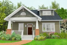 Dream House Plan - Craftsman Exterior - Front Elevation Plan #461-50