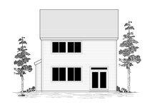 House Plan Design - Craftsman Exterior - Rear Elevation Plan #53-660