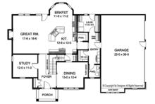 Colonial Floor Plan - Main Floor Plan Plan #1010-170