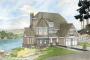 Craftsman Style House Plan - 3 Beds 3 Baths 3175 Sq/Ft Plan #928-34 Exterior - Front Elevation