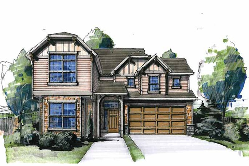 Cottage Exterior - Front Elevation Plan #509-275
