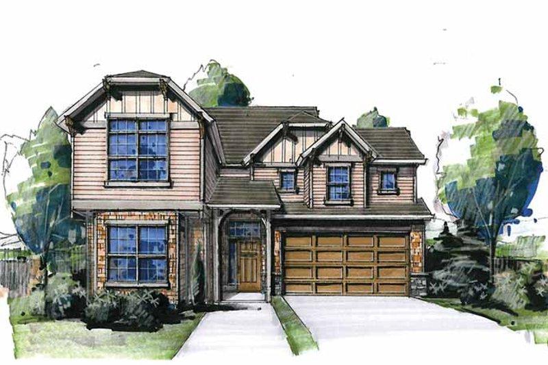 Cottage Exterior - Front Elevation Plan #509-275