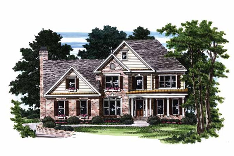 Traditional Exterior - Front Elevation Plan #927-397 - Houseplans.com