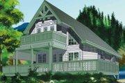 European Style House Plan - 2 Beds 2 Baths 1154 Sq/Ft Plan #118-142 Exterior - Rear Elevation