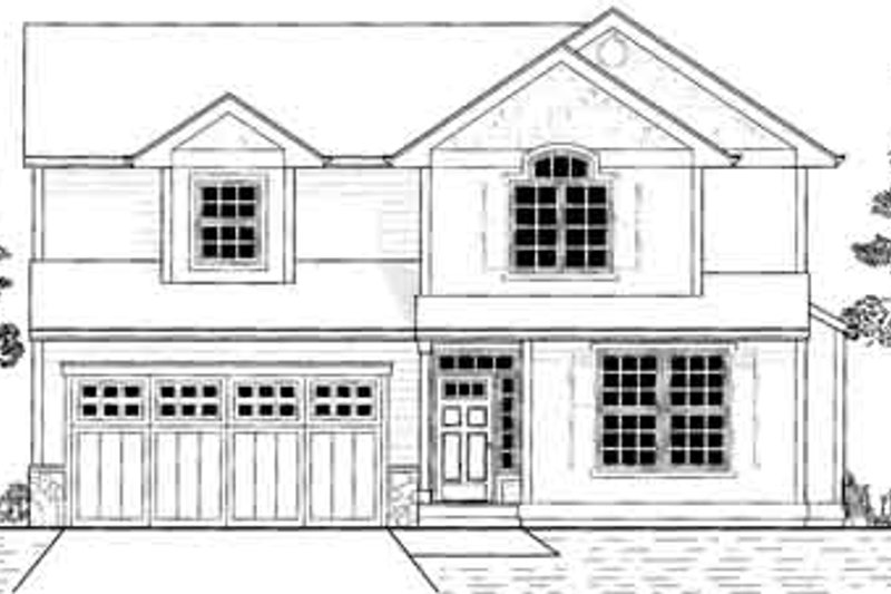 Traditional Style House Plan - 3 Beds 2.5 Baths 1561 Sq/Ft Plan #53-348 Exterior - Front Elevation