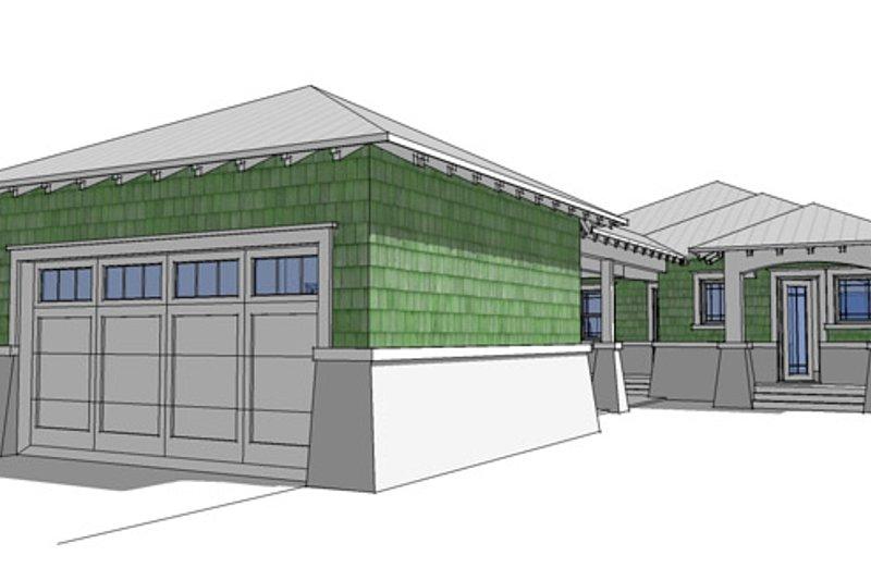 Craftsman Exterior - Rear Elevation Plan #64-264 - Houseplans.com