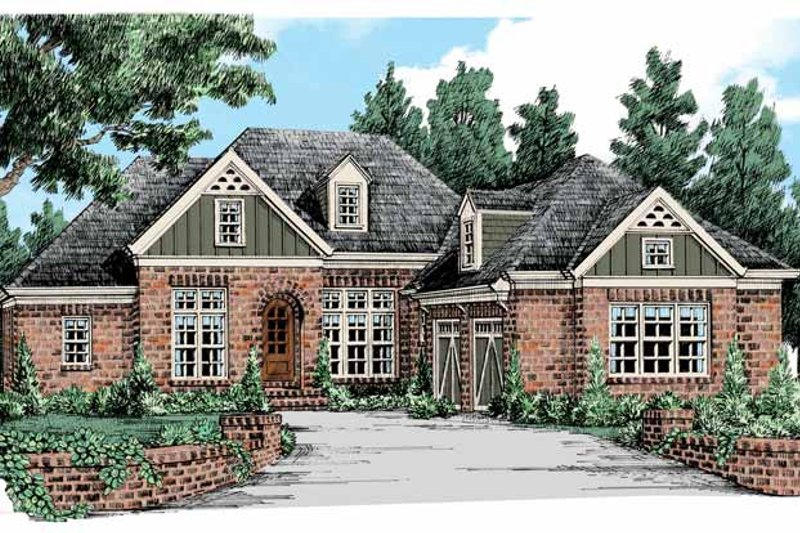 Home Plan - Country Exterior - Front Elevation Plan #927-440