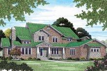 Dream House Plan - Craftsman Exterior - Front Elevation Plan #453-463