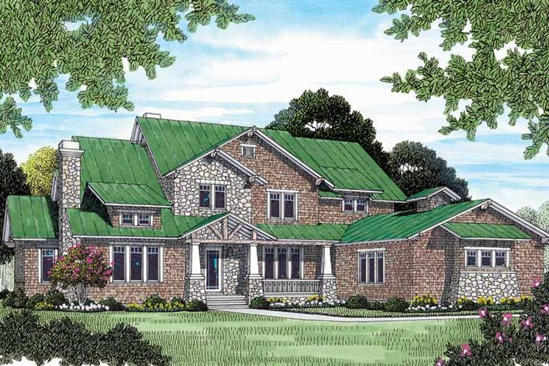 Craftsman Exterior - Front Elevation Plan #453-463