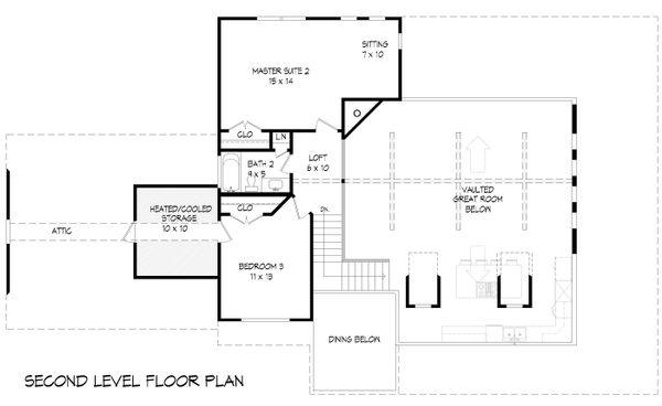 Farmhouse Floor Plan - Upper Floor Plan #932-137