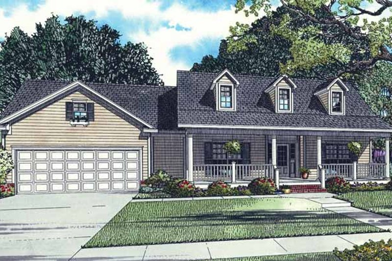 Country Exterior - Front Elevation Plan #17-2772 - Houseplans.com