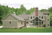 Victorian Style House Plan - 4 Beds 4 Baths 4106 Sq/Ft Plan #928-35 Exterior - Rear Elevation