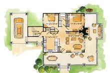 Cabin Floor Plan - Main Floor Plan Plan #942-22