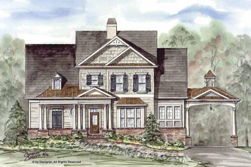Craftsman Exterior - Front Elevation Plan #54-311 - Houseplans.com