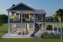 House Plan Design - Traditional Exterior - Rear Elevation Plan #1060-76