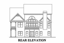 Home Plan - Traditional Exterior - Rear Elevation Plan #419-154