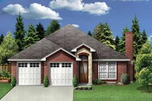 House Plan Design - Traditional Exterior - Front Elevation Plan #84-748