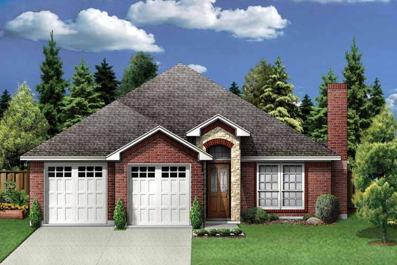 Traditional Exterior - Front Elevation Plan #84-748 - Houseplans.com