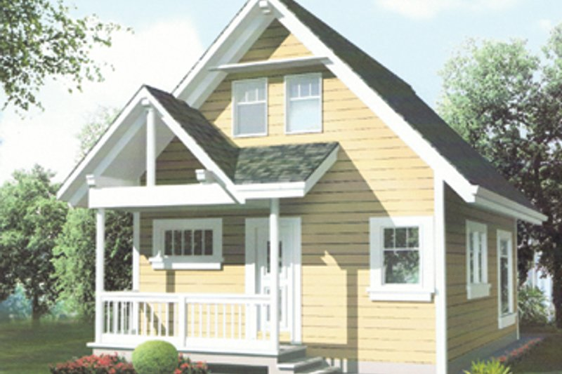 Architectural House Design - Country Exterior - Front Elevation Plan #118-158