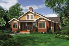 Craftsman Exterior - Rear Elevation Plan #132-532