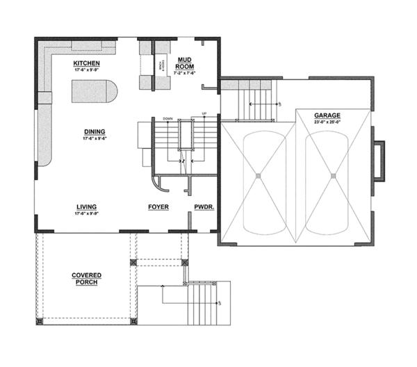Contemporary Floor Plan - Main Floor Plan Plan #928-274