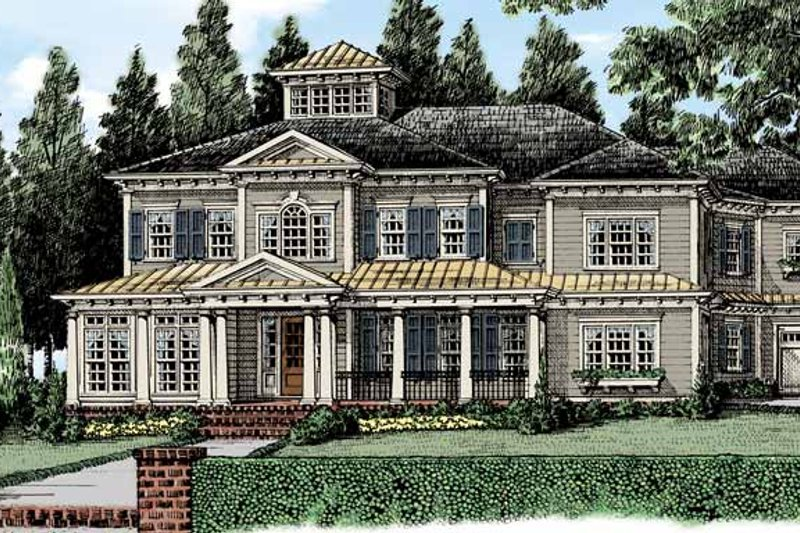 Classical Exterior - Front Elevation Plan #927-481