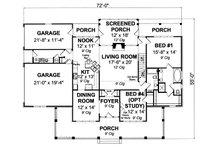 Farmhouse Floor Plan - Main Floor Plan Plan #513-2050