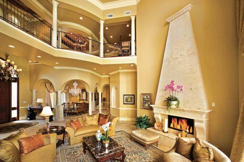 Mediterranean Interior - Family Room Plan #1017-14 - Houseplans.com
