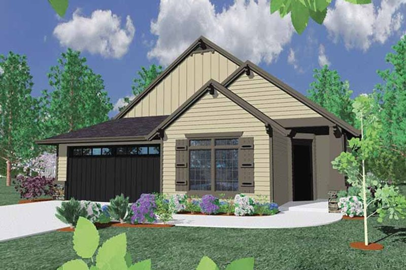 Traditional Exterior - Front Elevation Plan #509-257