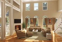 Country Interior - Family Room Plan #45-449