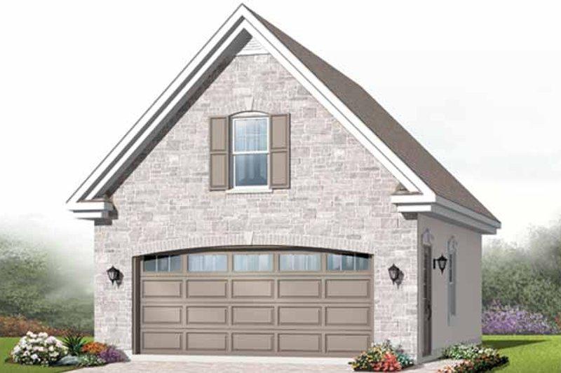 House Plan Design - European Exterior - Front Elevation Plan #23-2474