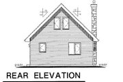 Cabin Style House Plan - 2 Beds 1 Baths 668 Sq/Ft Plan #18-4505 Exterior - Rear Elevation