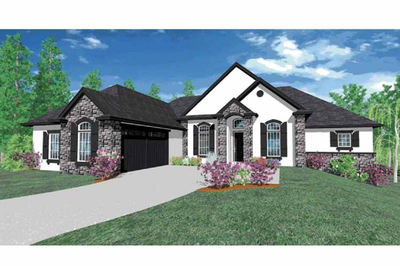 Traditional Exterior - Front Elevation Plan #509-347 - Houseplans.com