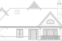European Exterior - Rear Elevation Plan #119-420