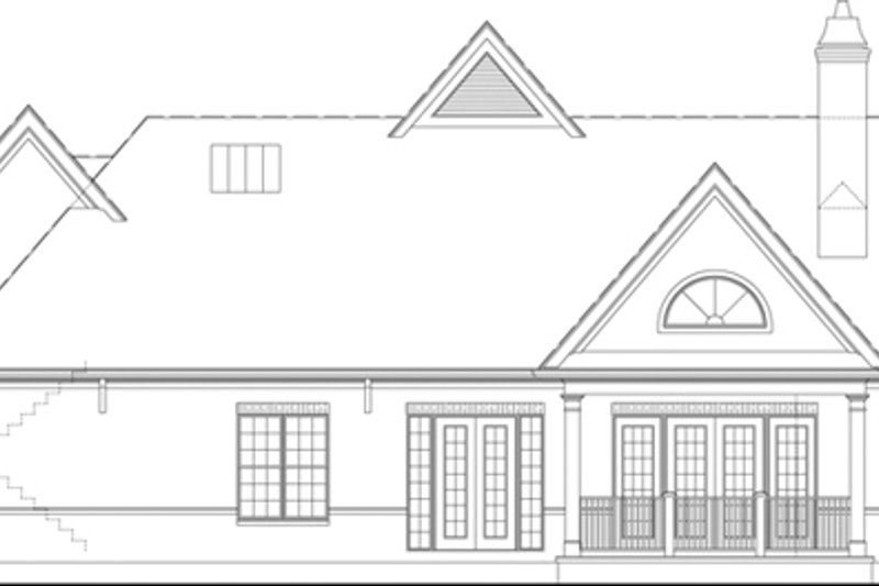 European Exterior - Rear Elevation Plan #119-420 - Houseplans.com