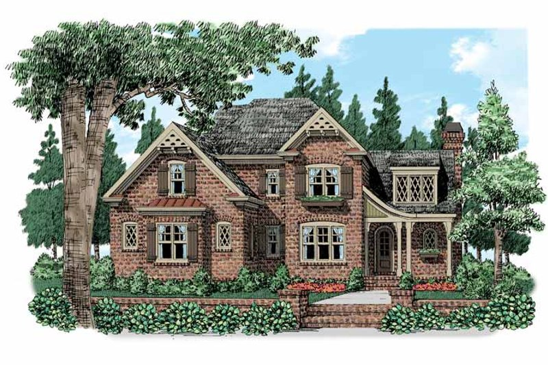 Country Exterior - Front Elevation Plan #927-519