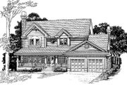 Traditional Style House Plan - 4 Beds 2.5 Baths 2142 Sq/Ft Plan #47-387 Exterior - Front Elevation