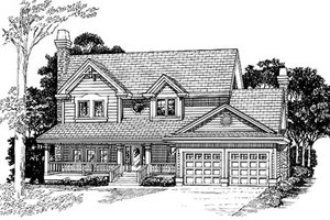 Traditional Exterior - Front Elevation Plan #47-387