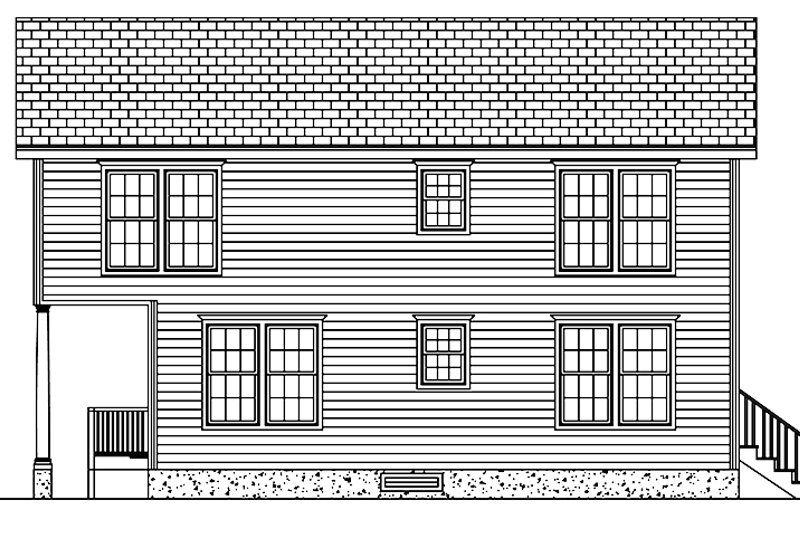 Traditional Exterior - Other Elevation Plan #1061-33 - Houseplans.com