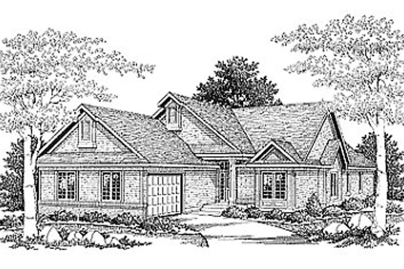 Dream House Plan - Traditional Exterior - Front Elevation Plan #70-235