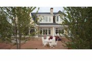 Colonial Style House Plan - 5 Beds 5.5 Baths 4470 Sq/Ft Plan #928-179 Exterior - Rear Elevation