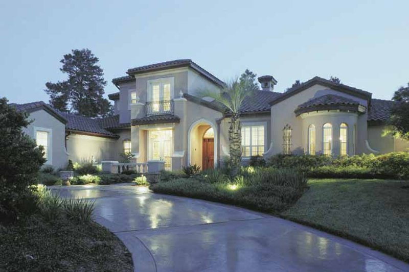 Mediterranean Exterior - Front Elevation Plan #1039-3 - Houseplans.com