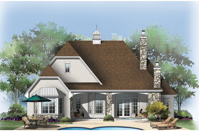 European Exterior - Rear Elevation Plan #929-913 - Houseplans.com