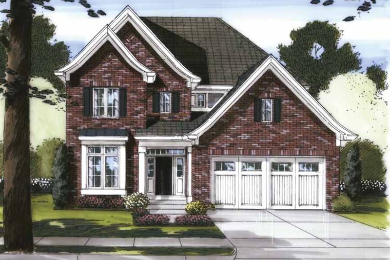 Traditional Exterior - Front Elevation Plan #46-802 - Houseplans.com